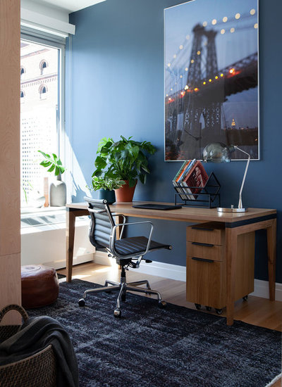 Industrial Home Office by Linda Cava