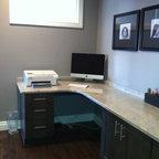 Custom Desk Contemporary Home Office Edmonton By
