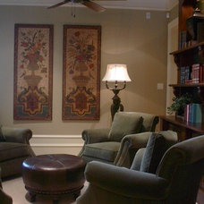 Traditional Home Office by Perkins Design Group
