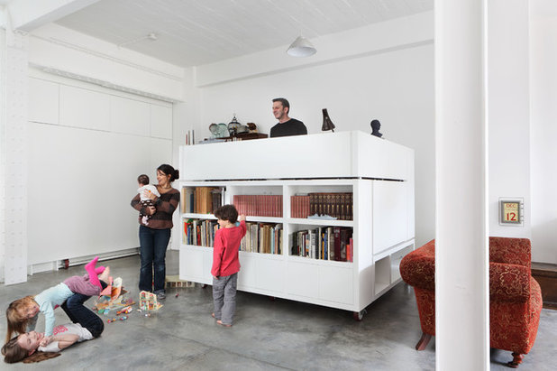Industrial Home Office & Library by Chris Dyson Architects