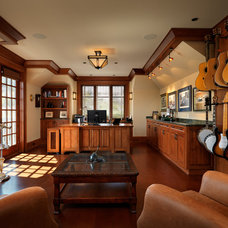 Craftsman Home Office by Mike Knight Construction