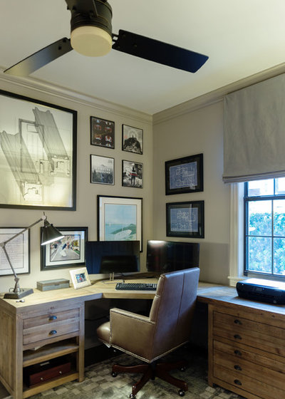 Rustic Home Office by TotalCare Orlando