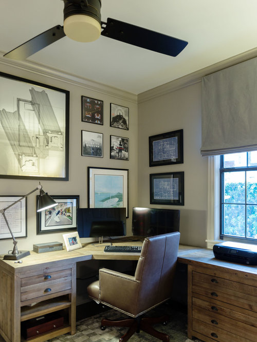 75 Rustic Home Office Design Ideas - Stylish Rustic Home Office ...