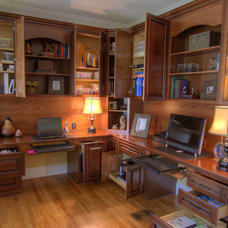 Traditional Home Office by RES Interiors, LLC