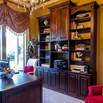 Wood Custom Home Office