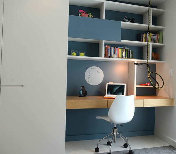 Contemporary Home Office by Ba Design Group