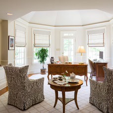Traditional Home Office by Deborah Leamann