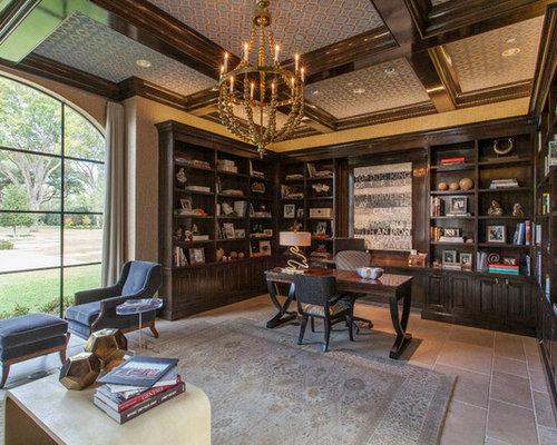 Mediterrane arbeitszimmer mit kalkstein ideen design for Arbeitszimmer wandfarbe