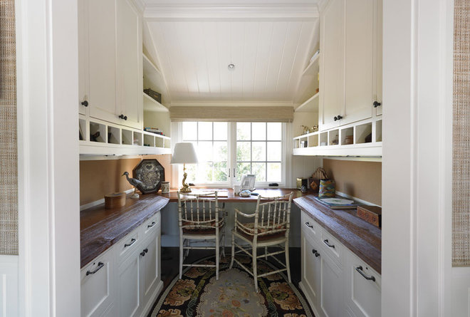 Traditional Home Office by Woodmeister Master Builders