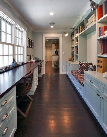 Traditional Home Office by Wormser and Associates