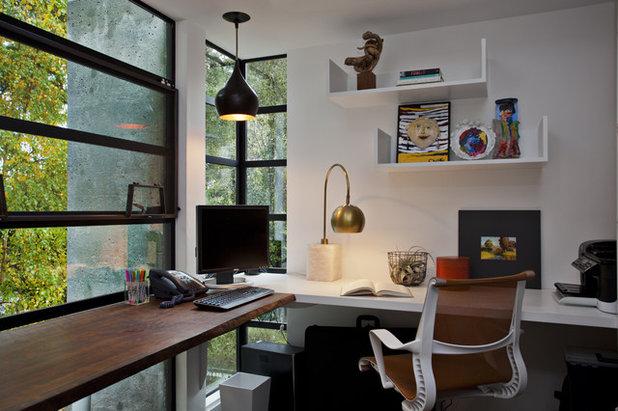 Contemporary Home Office by Fiorella Design