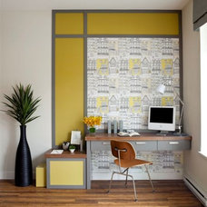 Modern Home Office by Sara Brown & Company