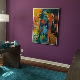 インディアナポリスの中サイズのトランジショナルスタイルのおしゃれなホームオフィス・仕事部屋の写真