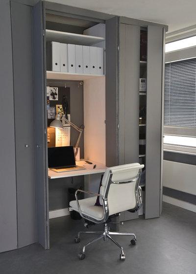 コンテンポラリー ホームオフィス・仕事部屋 by Cathy Phillips & Co