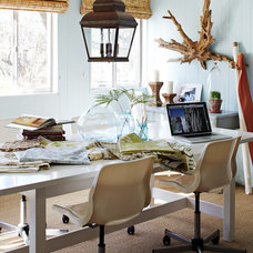 Eclectic Home Office by Lauren Liess Interiors