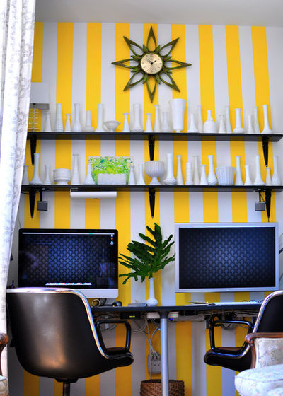Eclectic Home Office by Scheer & Co. Interior Design