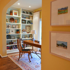 Traditional Home Office by Laurie S Woods, ASID