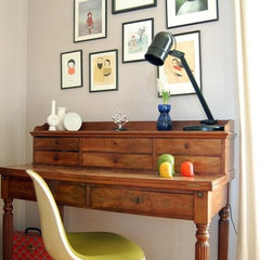 eclectic home office by Kaylovesvintage