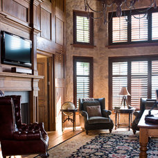 Traditional Home Office by Pyramid Builders