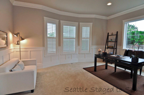 Traditional Home Office by Kimberlee Marie Interior Design