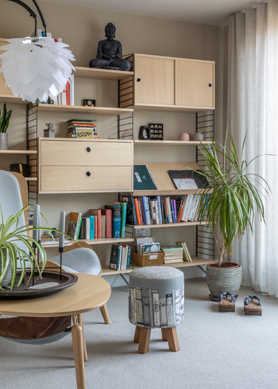 Eclectic Home Office by Sara Slade Interiors