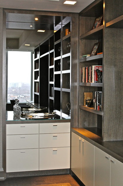 Contemporary Home Office by Grenview Construction