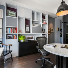 Contemporary Home Office by Yorkville Design Centre
