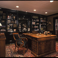 Traditional Home Office by Evans Woodworking Inc