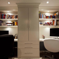 Traditional Home Office by Urban Abode