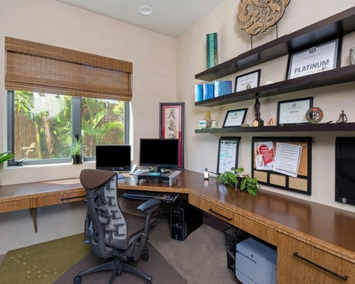 Tropical Los Angeles Home Office Design Ideas Remodels