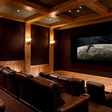 Traditional Home Theater by Magleby Construction