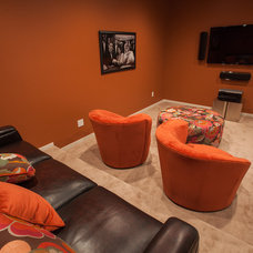 Contemporary Home Theater by Stranville Living