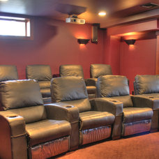 Traditional Home Theater by Perello Building Corporation