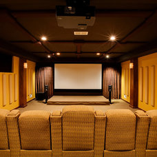 Contemporary Home Theater by KKC Fine Homes