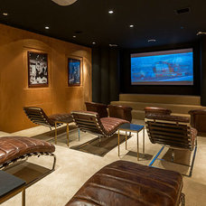 Contemporary Home Theater by Meridith Baer Home
