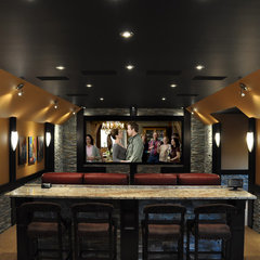contemporary media room by H2 Systems Inc.