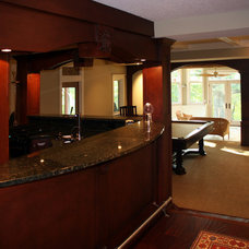 Traditional Home Theater by Kaufman Construction Design and Build