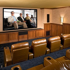 Traditional Home Theater by Martha O'Hara Interiors