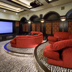 modern media room by Irvin Homes, LLC