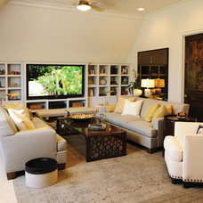 Traditional Home Theater by Castle Homes