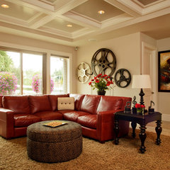 traditional media room by The WhiteHouse Collection