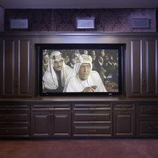 Traditional Home Theater by Ernesto Garcia Interior Design, LLC