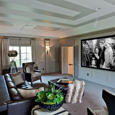 Transitional Home Theater by H. Customs Electronic Integrators