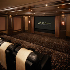 Traditional Home Theater by Joe Carrick Design - Custom Home Design
