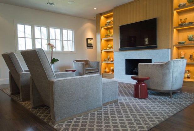 Midcentury Home Theater by Angela Flournoy