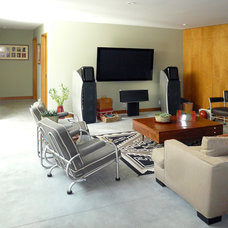 Midcentury Home Theater by Klopf Architecture