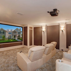 Contemporary Home Theater by Heritage Luxury Builders