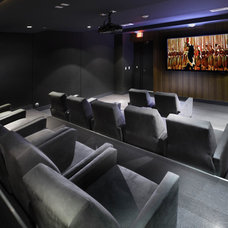 Contemporary Home Theater by Michael Wolk Design Associates