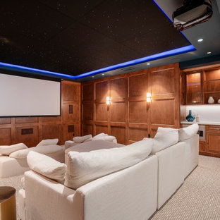 75 Beautiful Home Theater Pictures & Ideas | Houzz on