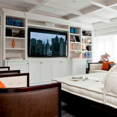 Contemporary Home Theater by Rusk Renovations